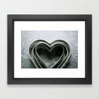 Hearts Together - Vintage Bakeware  Framed Art Print