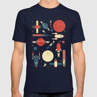Space Odyssey Mens Fitted Tee Navy SMALL