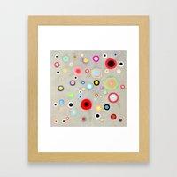 Abstract Happy Circles Framed Art Print
