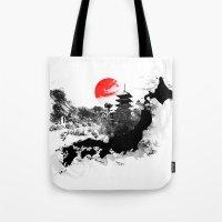 Abstract Kyoto - Japan Tote Bag