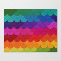 Rainbow Scallops Canvas Print