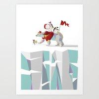 Private Penguin's Polar … Art Print