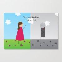 Colourful Life Canvas Print
