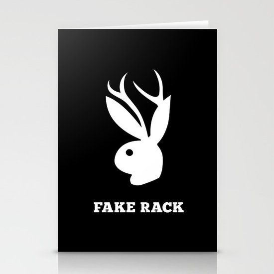 Fake Rack Stationery Card