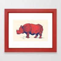 Red Rhino Framed Art Print