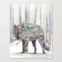 Winter Wonder Dog Canvas Print