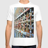 Gated Mens Fitted Tee White SMALL