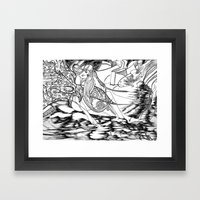 Secret Path / Original A4 Illustration / Pen & Ink Framed Art Print