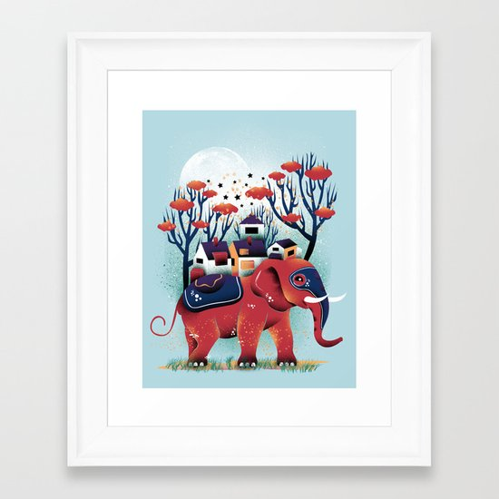 A Colorful Ride Framed Art Print