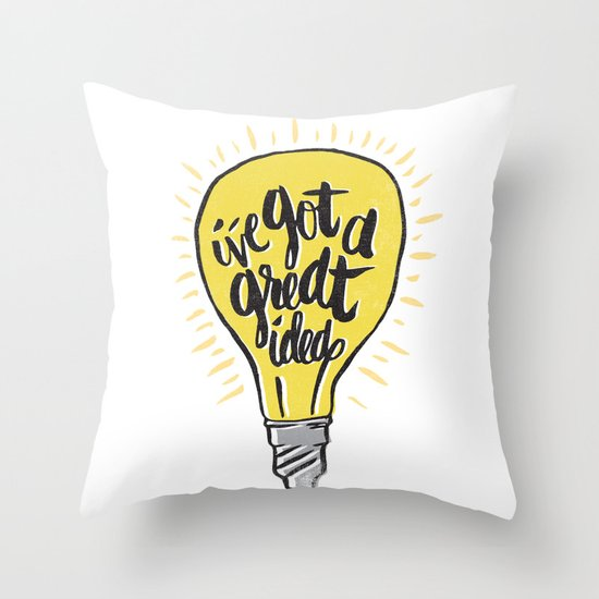 ...good idea. Throw Pillow