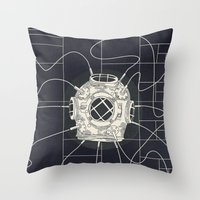 Dive Bomb / Recursive Throw Pillow