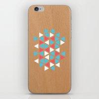 Triangle/wood iPhone & iPod Skin