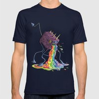 Barf The Rainbow Mens Fitted Tee Navy SMALL