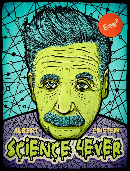 Science 4ever Art Print