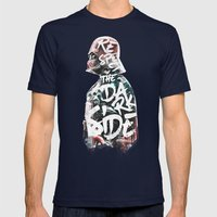 Respect The Dark Side Va… Mens Fitted Tee Navy SMALL
