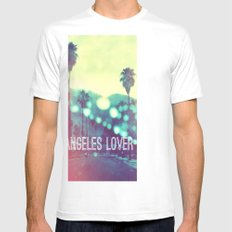 LA Lover White Mens Fitted Tee SMALL
