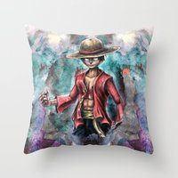 The King Of Pirates A Tr… Throw Pillow