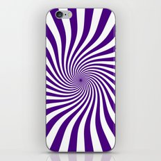Swirl (Indigo/White) iPhone & iPod Skin