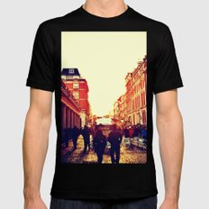 Moving on SMALL Black Mens Fitted Tee