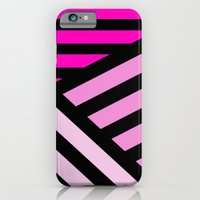 iPhone & iPod Case featuring STRIPED {PINK} by natalie sales