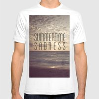 SUMMERTIME SADNESS Mens Fitted Tee White SMALL