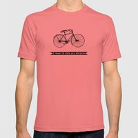 Bicycle Mens Fitted Tee Pomegranate SMALL