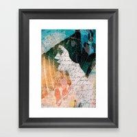Lady Remixed Framed Art Print