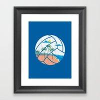 Beach Volleyball Framed Art Print