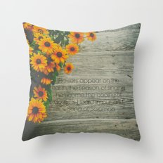 When Flowers Appear Throw Pillow