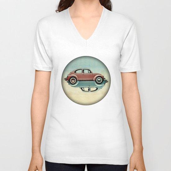 vw  ying and yang V-neck T-shirt