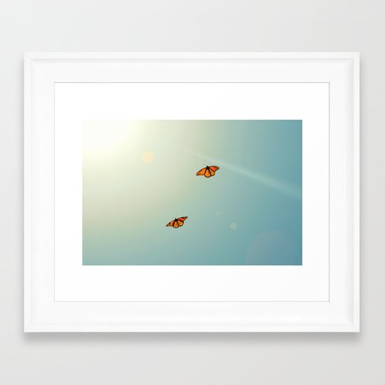 Monarch Sky Love Framed Art Print