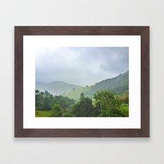 rainy hill Framed Art Print