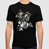 Roller Derby Referee Zebra Mens Fitted Tee Black SMALL