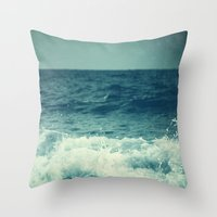 The Sea II. (Sea Monster) Throw Pillow