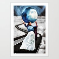 Obligatory Frida - PAINT… Art Print