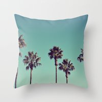California Palm Trees Throw Pillow