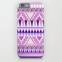 iPhone & iPod Case featuring Aztec; Purple Dreams by Elli F