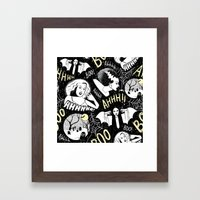Classic Horror Halloween Framed Art Print