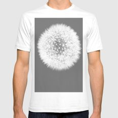 Biðukolla Mens Fitted Tee White SMALL