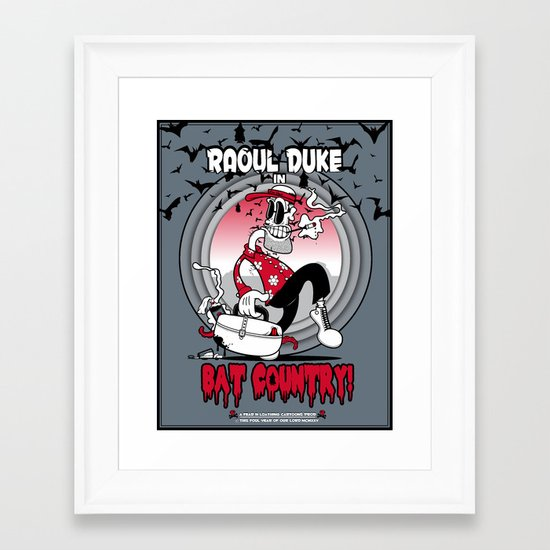 Fear 'N Loathing In This Foul Year Of Our Lord Nineteen Hundred and Twenty-Five Framed Art Print