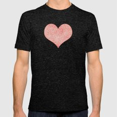 Peach echo and white swirls doodles Mens Fitted Tee Tri-Black SMALL