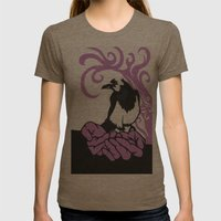 For Sorrow Womens Fitted Tee Tri-Coffee SMALL