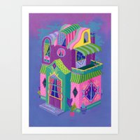 Balcony House Art Print