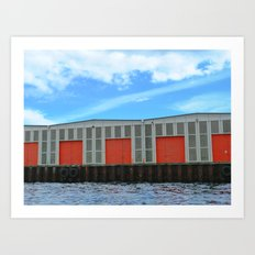 DENMARK WATERFRONT  Art Print