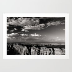 Grand Canyon - Black and White Art Print