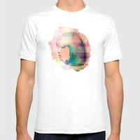 Blue Candy Mens Fitted Tee White SMALL