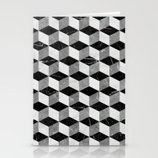 Marble Cubes  Stationery Cards