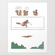 Super Squirrel  Art Print