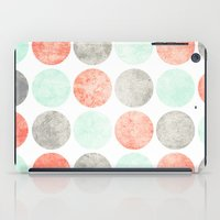Circles (Mint, Coral & Gray) iPad Case