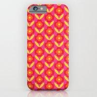 Retro happy bright floral 4 iPhone 6 Slim Case